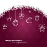 Рождественская открытка сбора винограда Стоковая Фотография
