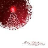 Рождественская открытка сбора винограда Стоковые Фотографии RF