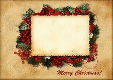 Рождественская открытка сбора винограда Стоковая Фотография RF