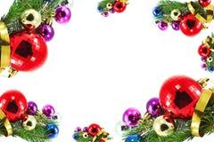 Рождественская открытка с валом и шариками стоковые изображения rf