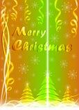 Рождественская открытка с луч светом Стоковое фото RF