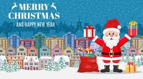 Рождественская открытка с приветствием, стоковая фотография rf