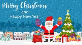 Рождественская открытка с приветствием, стоковая фотография