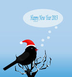 Рождественская открытка с птицей Стоковое Изображение