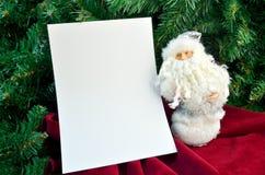 Рождественская открытка с Сантой Стоковое Изображение