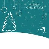 Рождественская открытка с снежинками Стоковые Фотографии RF
