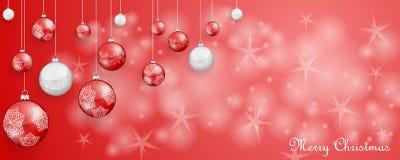 Рождественская открытка с украшением стоковое фото