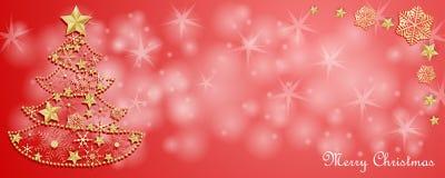 Рождественская открытка с украшением стоковое фото rf