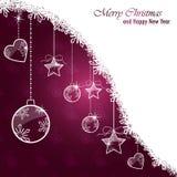 Рождественская открытка Стоковые Фотографии RF