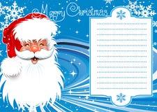 Рождественская открытка. Стоковое Изображение RF