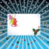 Рождественская открытка иллюстрация штока