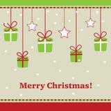 Рождественская открытка Стоковые Фото