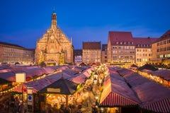 Рождественская ярмарка в Нюрнберге, Германии стоковая фотография