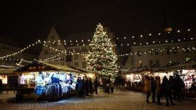 Рождественская ярмарка в Таллине Эстонии Стоковое Фото