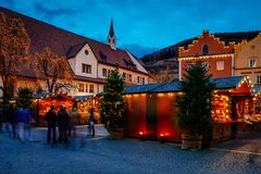 Рождественская ярмарка в Vipiteno, Больцано, альте Адидже Trentino, Италии Стоковые Фото