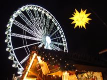 Рождественская ярмарка Гайд-парк Лондон Англия Стоковые Фотографии RF