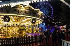 Рождественская ярмарка Эдинбурга Стоковые Изображения
