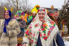 Рождественские гимны в Полоцк Беларуси стоковые фото
