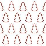 Рождественские елки значок, предпосылка Символ вектора на белизне иллюстрация штока