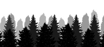 Рождественские елки, силуэт леса, вектора иллюстрация вектора