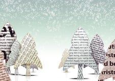 рождественские елки иллюстрация штока