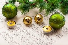 Рождественский гимн Кристмас Стоковое Изображение RF