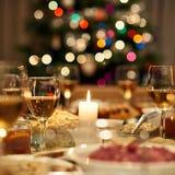 Рождественский ужин готов Стоковое Фото