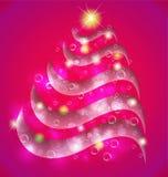 Рождественской елки конспекта предпосылка swirly иллюстрация вектора