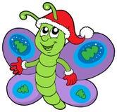 рождество бабочки милое бесплатная иллюстрация