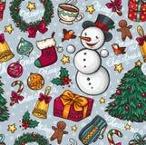 Рождество безшовное иллюстрация штока