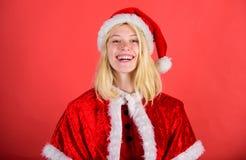 рождество веселое Костюм santa носки девушки счастливый жизнерадостный отпраздновать рождество праздники экземпляра принципиально стоковые фото