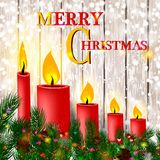 рождество веселое счастливое Новый Год звезды абстрактной картины конструкции украшения рождества предпосылки темной красные белы иллюстрация вектора