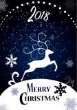 рождество веселое счастливое Новый Год Стоковое Изображение