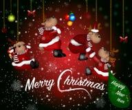 рождество веселое счастливое Новый Год стоковые фото