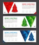 рождество веселое шаблон знамени рекламодателя План рогульки иллюстрация штока