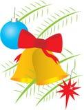 рождество ветвей колоколов шариков Стоковое Изображение