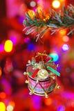 рождество ветви украсило барабанчик Стоковая Фотография