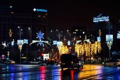 Рождество в Бухаресте Стоковые Фото