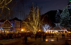 Рождество в Leavenworth, WA Стоковые Фотографии RF