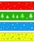 рождество граници знамени Стоковое Фото