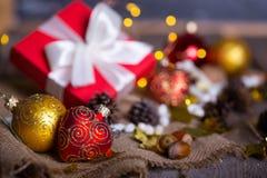 Рождество - группа в составе подарки стоковые фотографии rf