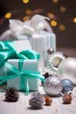 Рождество - группа в составе подарки стоковые изображения rf