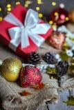 Рождество - группа в составе подарки стоковое изображение rf