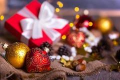 Рождество - группа в составе подарки стоковое изображение