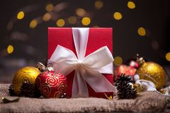 Рождество - группа в составе подарки стоковая фотография