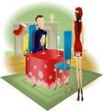 рождество давая сярприз партии иллюстрация штока