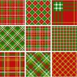 рождество делает по образцу шотландку иллюстрация вектора
