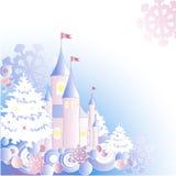 рождество замока предпосылки Иллюстрация штока