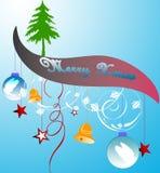 рождество знамени Иллюстрация вектора