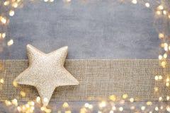 Рождество играет главные роли шляпа santa Картина рождества Предпосылка на Стоковое Изображение RF